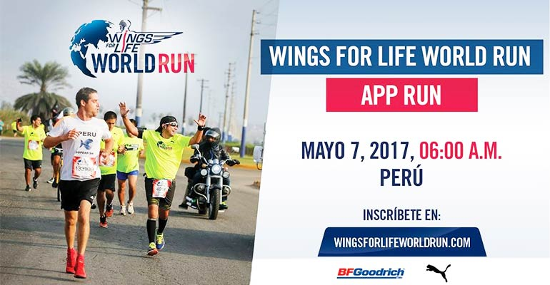 Wings for Life World Run - App Run - Perú 2017