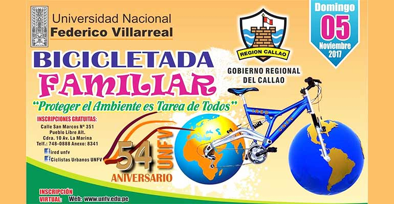 Gran Bicicletada Familiar UNFV 2017