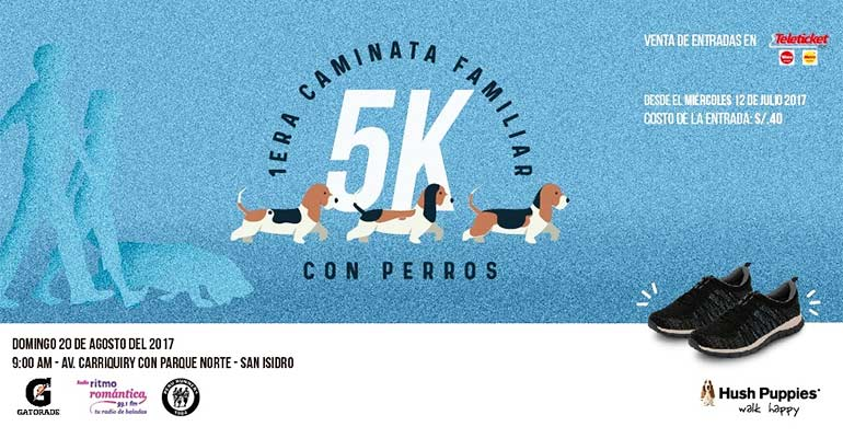 Caminata Familiar Hush Puppies 5K 2017