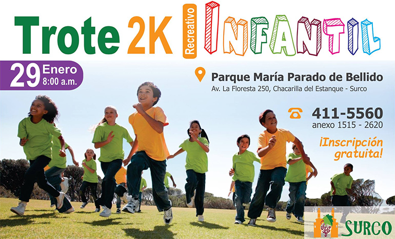 Trote Recreativo Infantil Surco 2K 2016
