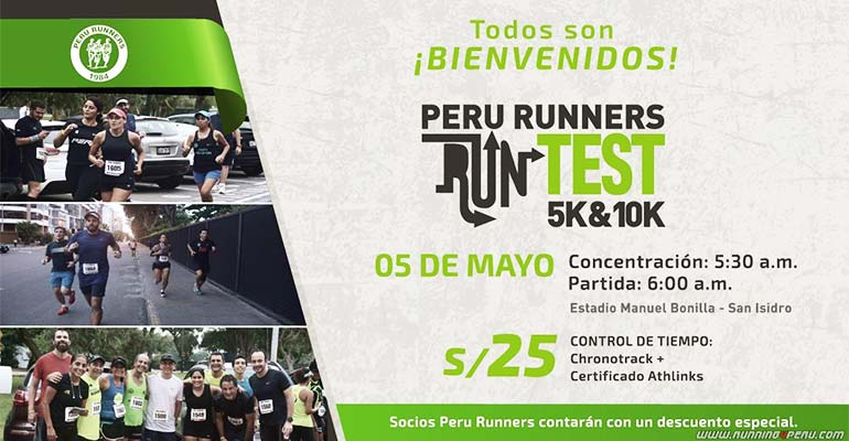 Peru Runners RunTest - Apoyo Wings For Life 2019